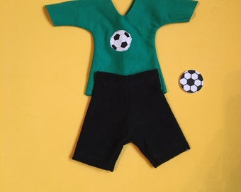Elf Soccer tshirt and Shorts  with soccer foam sticker