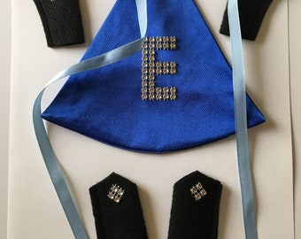 Elf Superhero Cape Blue with boots and gloves