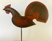 rooster weathervane - a hand made reproduction of an 18th C. weathervane made in New England