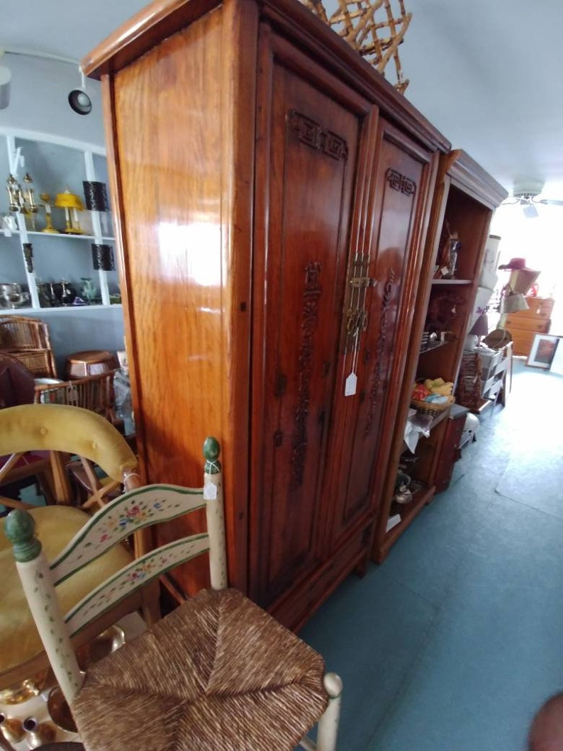 Antique Asian Boudoir CabinetArmoire
