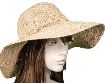 Beechfield Marbella à large bord Femme Chapeau De Soleil Pour Femme Plage Été Paille B740