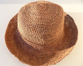 5bd5b166556 Hat straw women Hat raffia Hat crochet Sun Hat
