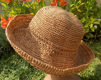 c695bf3c children hats/handmade child sun hat with natural straw fibers/hat kid a hat  in time