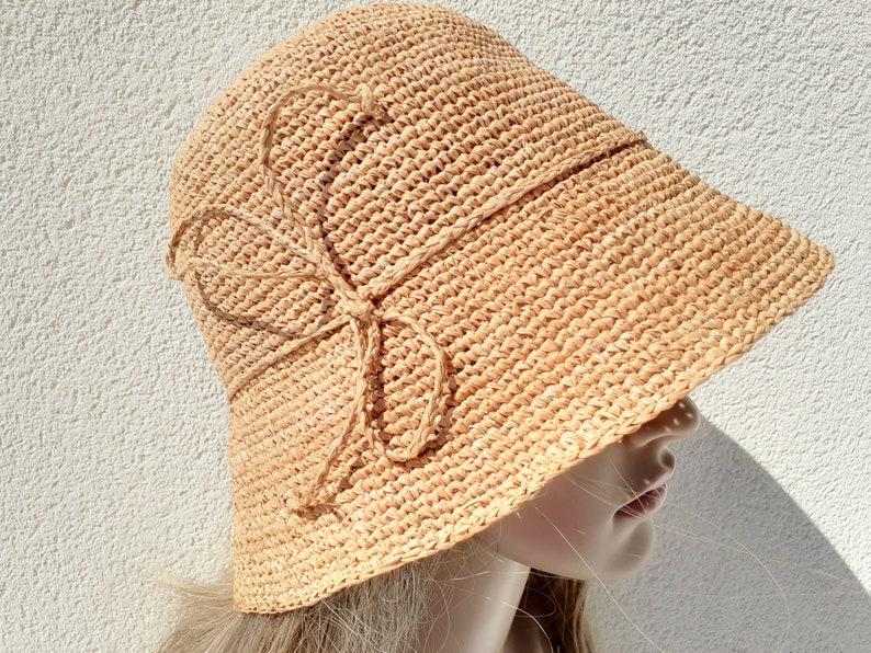 straw hat women Brown