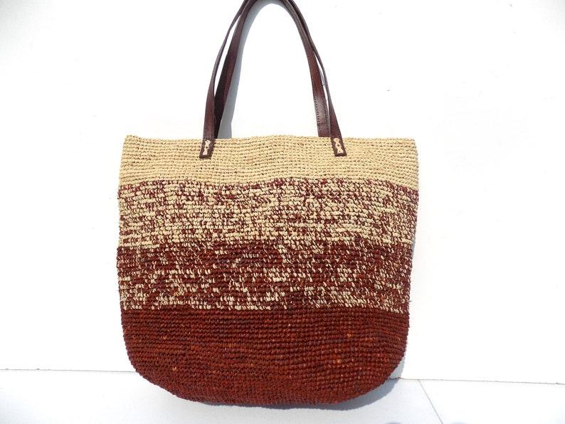 03a4224e1ef13 Bag bag handbag Brown beige straw bag tote bag straw