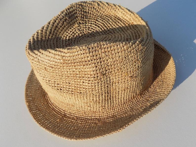 4573dcdc94c14 Raffia hat child hat unisex53/5454/55 cm55/56 cm girl   Etsy