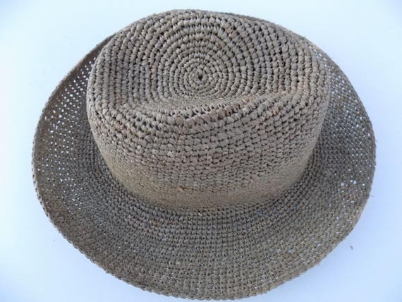 Borsalino grey straw hat raffia natural solid Sun Hat  116abe649d39