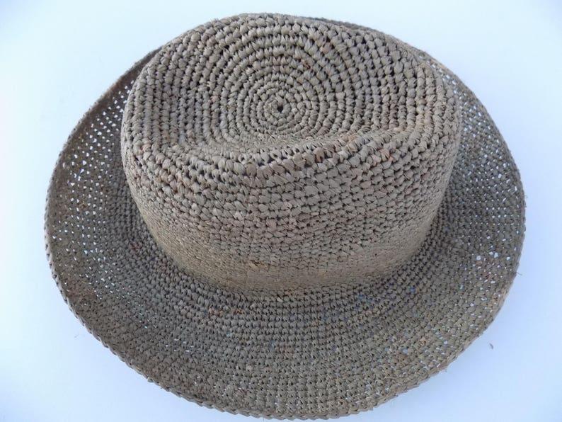 089e9692 Borsalino grey straw hat raffia natural solid Sun Hat | Etsy