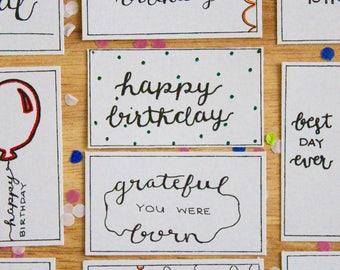 Birthday Gift Tags Printable Handwritten Variety Color Yourself