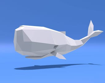 Whale Low Poly Object