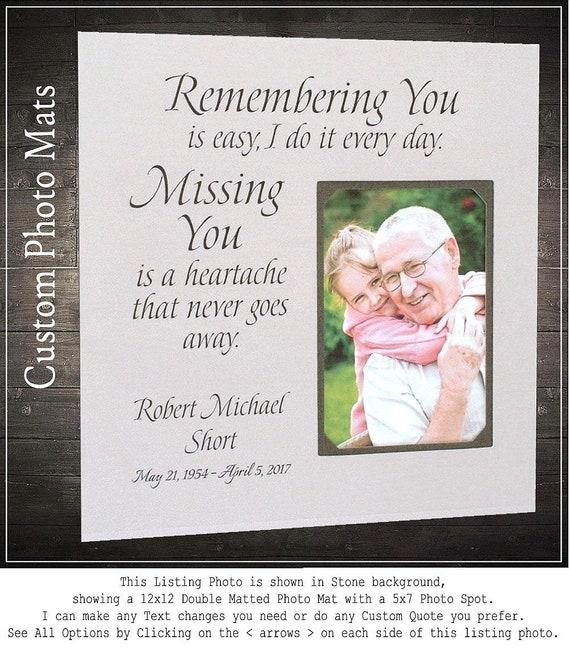 Memorial Plaque Mom Memorial Gift In Memory Photo Frame | Etsy