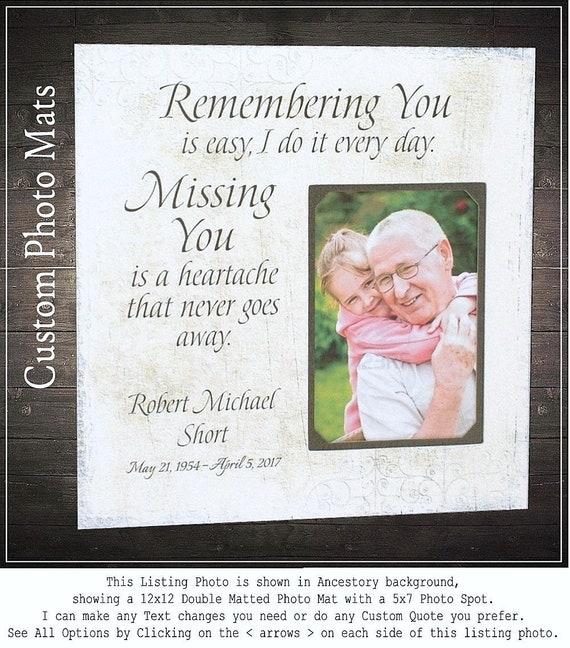 In Memory of Photo Frame Memorial Gift Dad In Memory Mom | Etsy