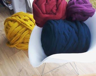 CHUNKY MERINO YARN, all colors, giant yarn super chunky yarn, oversize yarn, extreme super chunky wool, merino yarn,big yarn,giant knit yarn