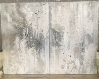 Fade to grey diptych #2