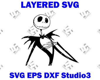 Jack Skellington Svg Etsy