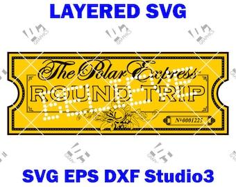 graphic regarding Polar Express Golden Ticket Printable identify Polar categorical ticket Etsy