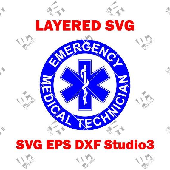 Ems Etoile De Vie Ronde Emt Logo Technicien Durgence Etsy