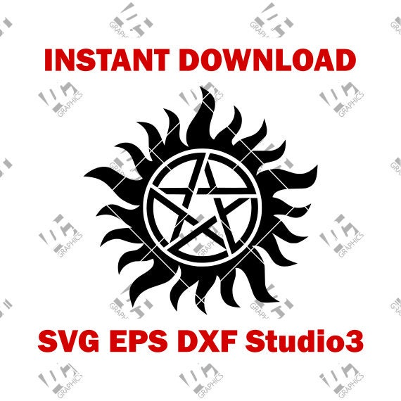 Supernatural Anti Possession Symbol - Cutting File in SVG, EPS, DXF, and  Studio3 - Cricut, Silhouette Cameo Studio- Cut File