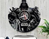 Star Wars Vinyl Clock/Darth Vader Wall Vinyl Clock *V043 Clock Star Wars/Star Wars Lover Gift/Wall Record Clock/Lp Clock/Vinyl Record
