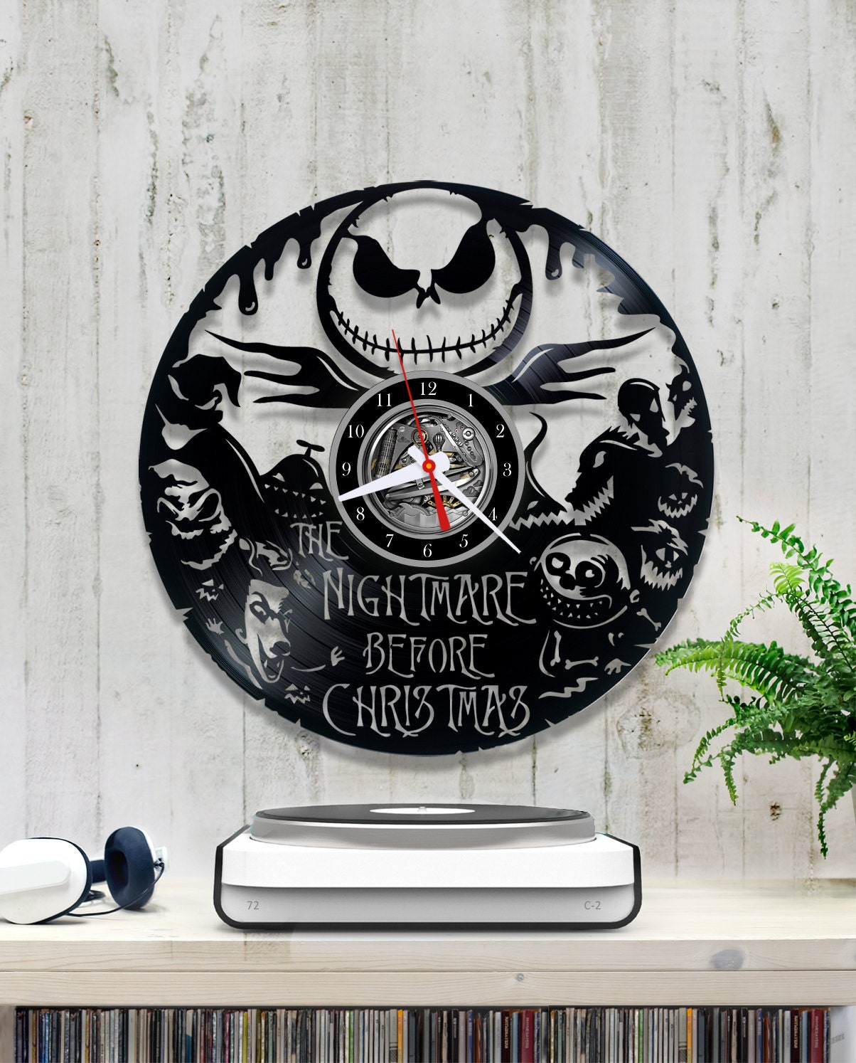 Nightmare Before Christmas Vinyl Clock/Jack Skellington Clock | Etsy