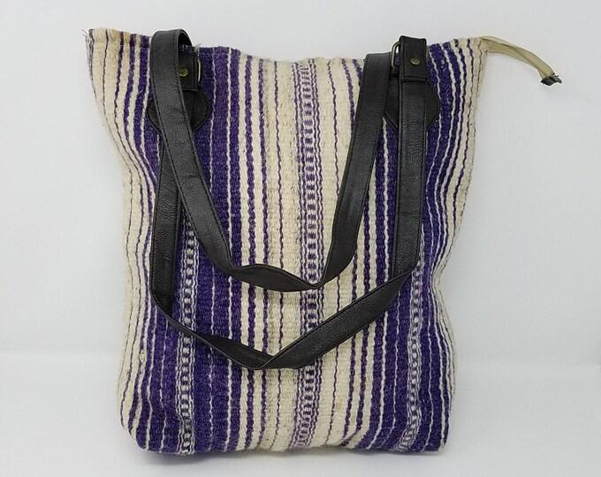 Stunning Vintage Kilim Handbag / shoulder bag kilim bag, Handmade boho Bag- FREE SHIPPING