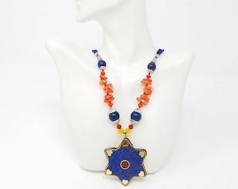 Beautiful vintage Afghan kuchi necklace Pendant/ gypsy Ethnic jewelry/ Afghan jewelry , Gypsy style jewelry Boho style