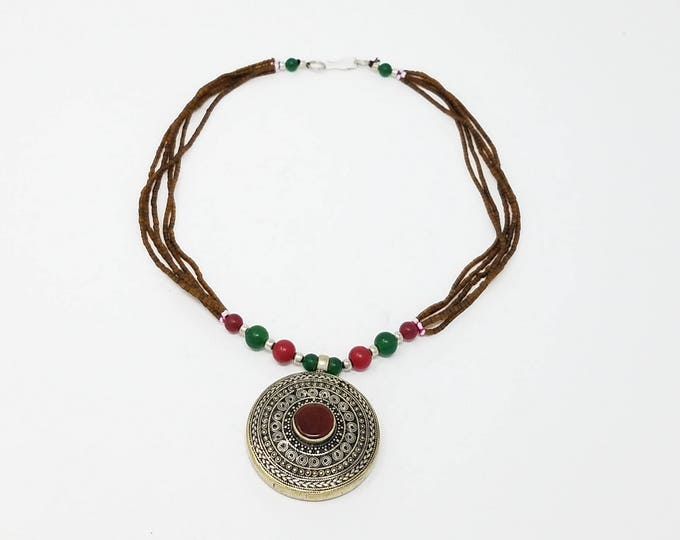 Beautiful Afghan kuchi rare necklace , gypsy pendant /Afghan jewelry , Gypsy style jewelry Boho style