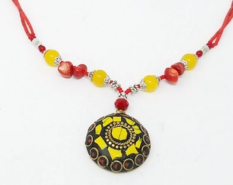Beautiful Afghan kuchi necklace, gypsy pendant /Afghan jewelry , Gypsy style jewelry Boho pendant