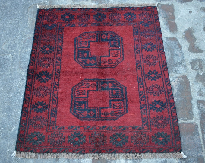 Antique Afghan turkoman tribal filpai handmade wool rug / Decorative rug vintage afghan traditional elephant foot rug