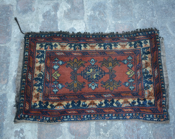 Turkoman Natural Dye Soft Woolen Afghan tribal floor Balisht Cushion Case Big Pillew Decor Piece