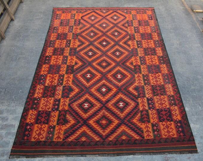 "8'6 x 12'4"" ft. - Vintage Large Afghan Ghalmori kilim Rug, Tribal handwoven kilim"