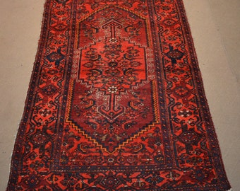 Antique Floral Pattern zanjiri Vase Design Tribal carpet/ Decorative rug Caucasian traditional rug