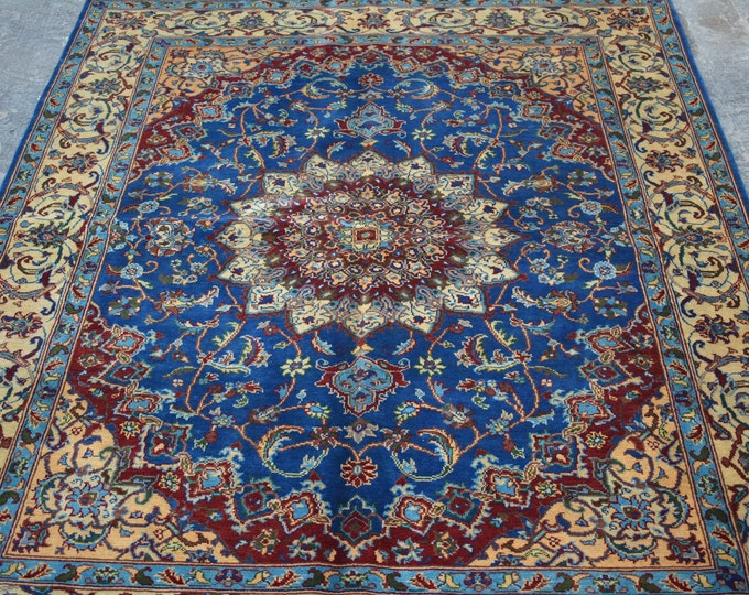 Afghan hand knotted geomatric Tribal carpet/ Decorative rug Caucasian style traditional rug