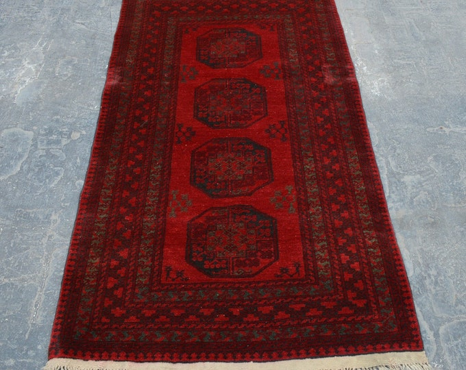 Antique Afghan turkoman tribal filpai handmade wool rug / Decorative rug vintage afghan traditional elephant foot rug/ nomadic afghan rug