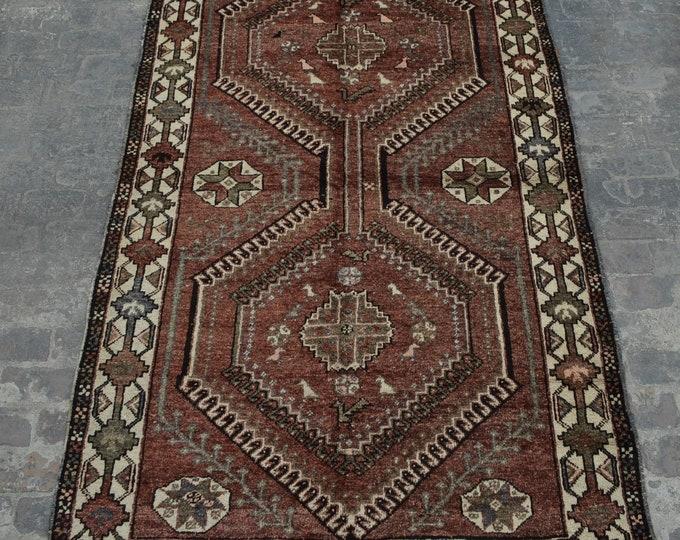 Antique geometric Design Tribal Caucasian carpet/ Decorative rug Caucasian traditional rug / stunning bohemian decor rug / Anatoliyan rug