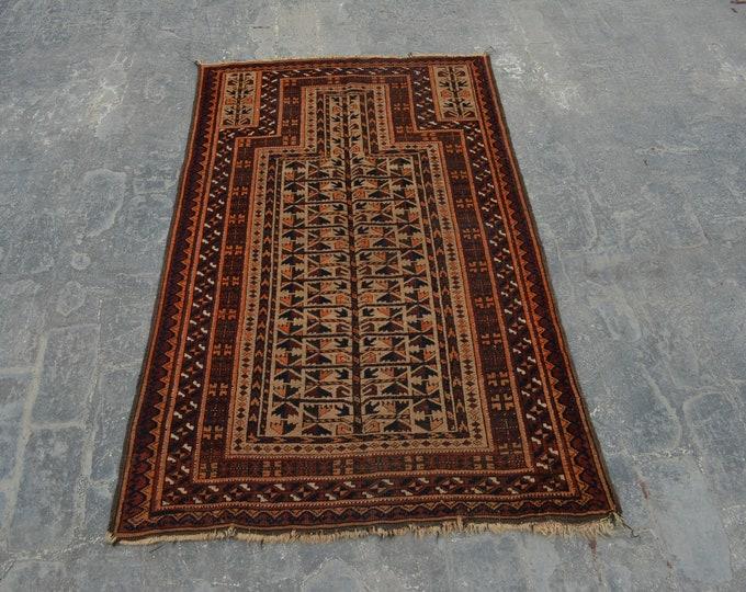 vintage Kawdani Afghan Nomadic tribal handmade wool prayer rug / Decorative rug vintage afghan traditional kawdani prayer rug/ Jai namaz rug