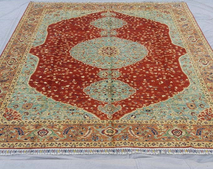 8'1 x 9'8 ft Elegant super Quality hand knotted Afghan Mamlook Rug decorative this rug will make your room even more beautiful
