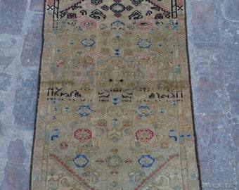 Piles Worn out -Antique Caucasian Nomadic tribal handmade wool prayer rug / Decorative rug vintage traditional kawdani prayer rug