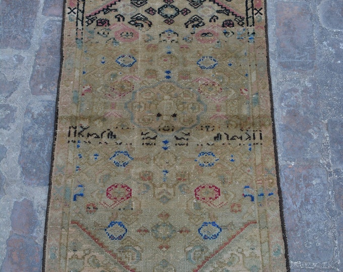 Piles Worn out -Antique Caucasian Nomadic tribal handmade wool prayer rug / Decorative rug vintage traditional kawdani prayer rug