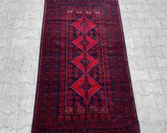Charming handmade Afghan vintage rug