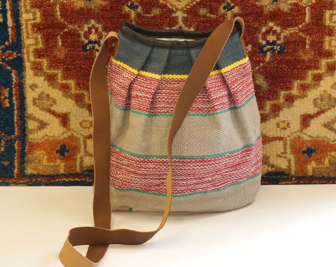 Beautiful handmade bucket kilim bag / bohemian kilim bag - decorative kilim bag