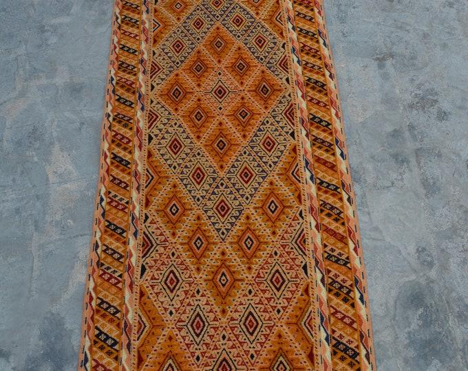 High Quality handmade Mishwani Nakhunak Herati Woolen rug runner / Cute Afghan Beljick Mushwani kilim rug runner