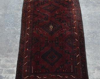 Elegant Vintage Afghan maldari baluchi tribal handmade wool rug /Decorative rug vintage afghan traditional rug Nomadic decorative rug
