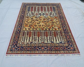 5'5 x 7'9 ft Elegant super Quality hand knotted Afghan Ayna Rug decorative this rug will make your room even more beautiful