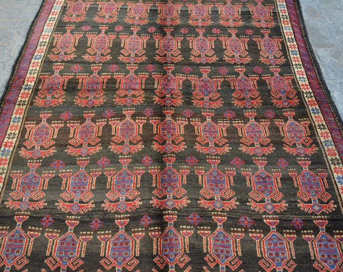 Vintage Afghan baluchi tribal handmade wool rug / Decorative rug vintage afghan traditional rug