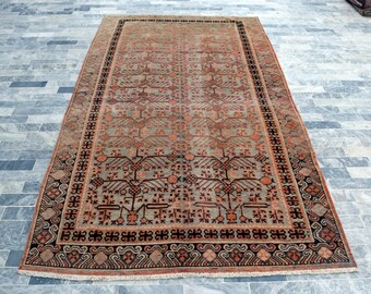 1920's Antique Chinese Khotan Handmade Art Deco Rug - Living room rug, Bedroom rug, FREE SHIPPING