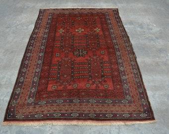 Elegant Afghan turkoman traditional vintage nomad baluchi rug 100% wool