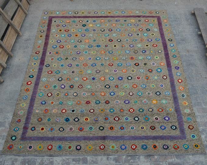 Stunning Afghan handmade kilim rug berjesta / tribal Afghan decorative berjesta kilim rug