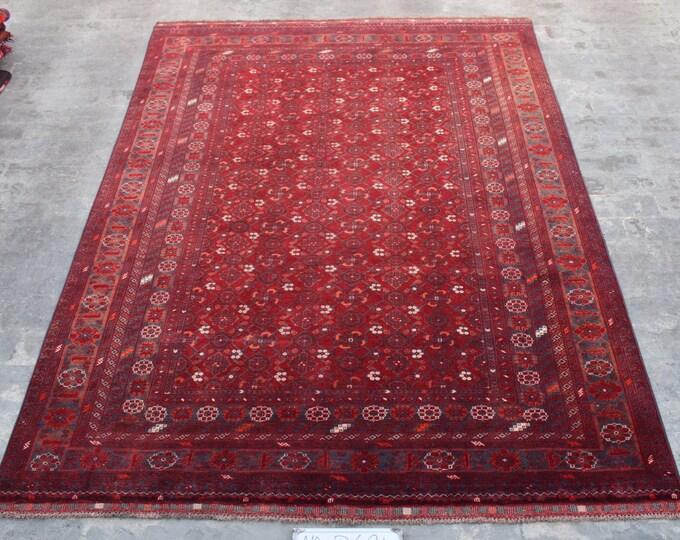 Vintage Afghan rug, Bashiri rug, Tribal large rug, Nomad vintage rug,