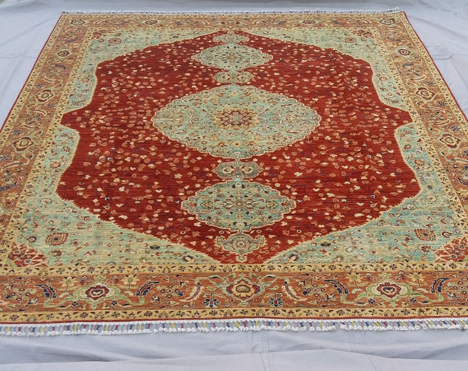 8'4 x 9'8 ft Elegant super Quality hand knotted Afghan Mamlook Rug decorative this rug will make your room even more beautiful